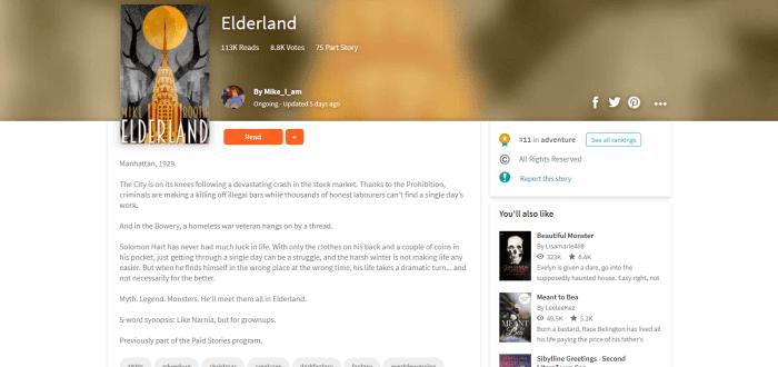 Wattpad lets you publish and read original stories
