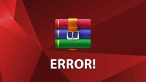 Cómo solucionar el error en la suma de control de WinRAR