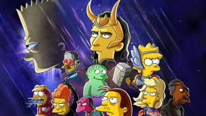 Loki y Los Simpsons se ven las caras en Disney+