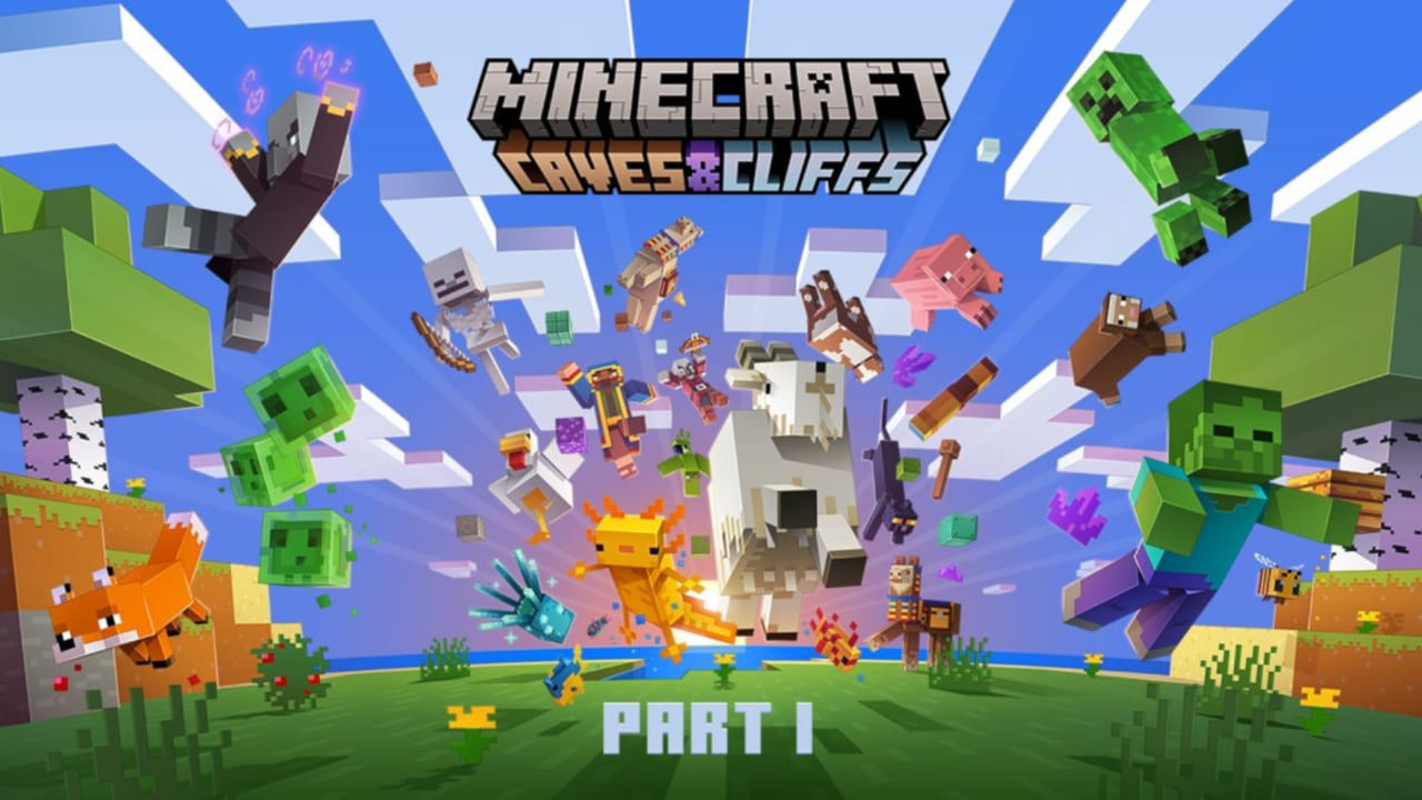 Minecraft Launches First Caves and Cliffs Update