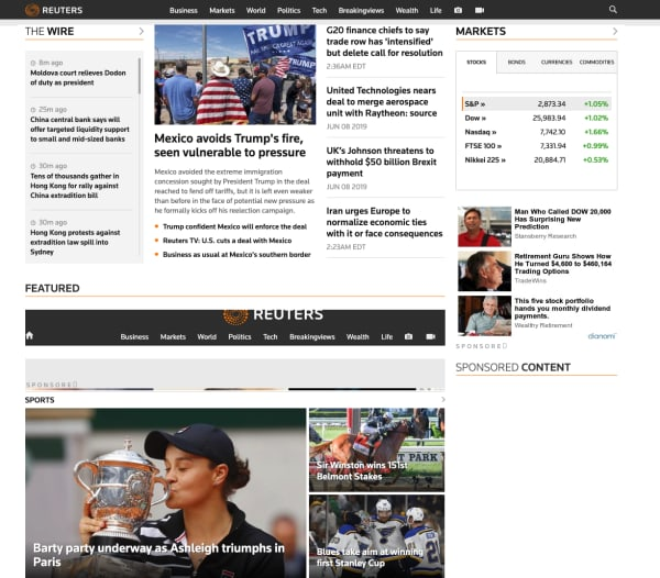 reuters home page