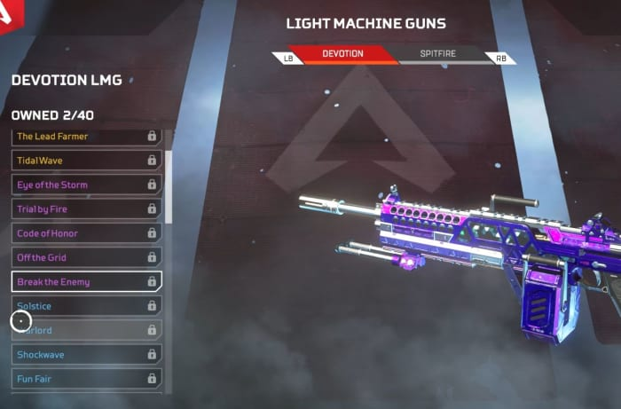 Apex Legends Devotion LMG weapon skin