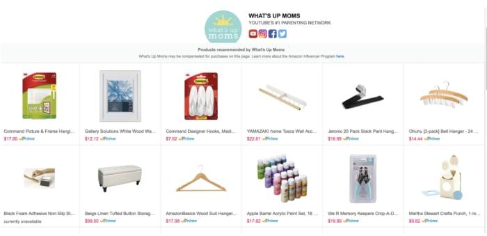 Amazon influencer vanity URL
