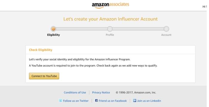 Amazon associate influencer program