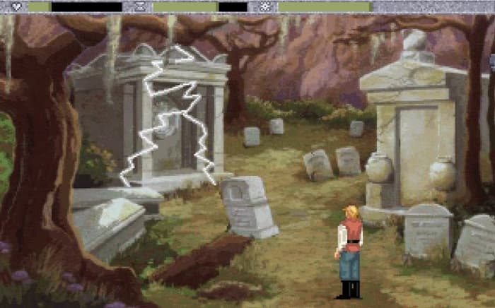 Quest for Glory IV Shadows of Darkness graveyard