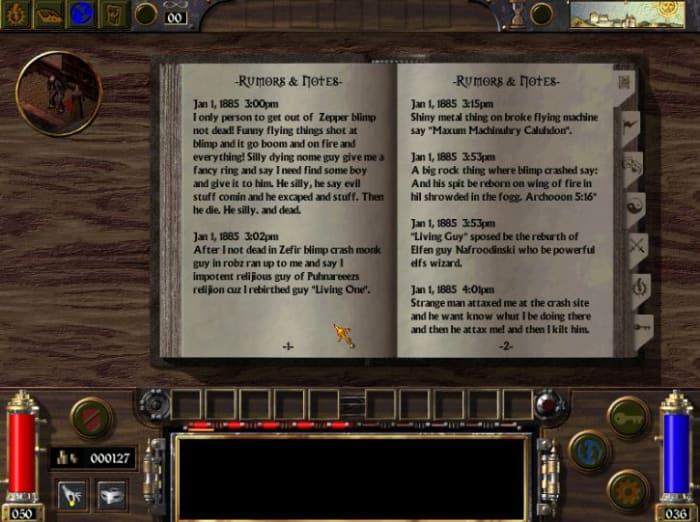 Arcanum lore rumors notes