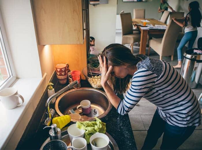 Mental health stress kitchen breakdown