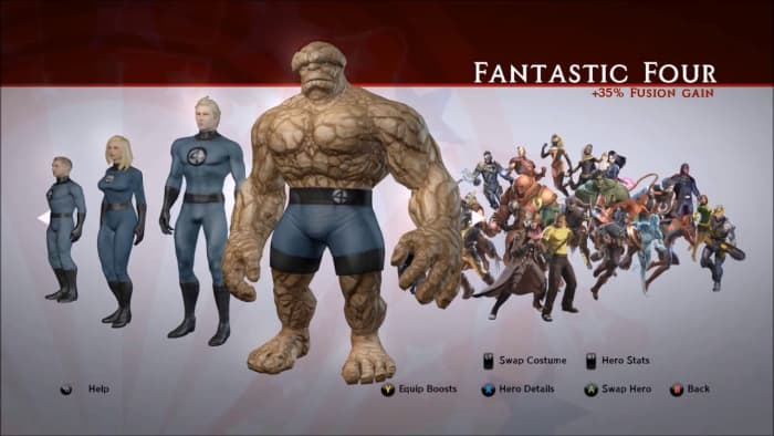 Marvel Ultimate Alliance 2 Fantastic Four team bonus