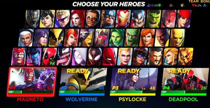 Marvel Ultimate Alliance 3 roster