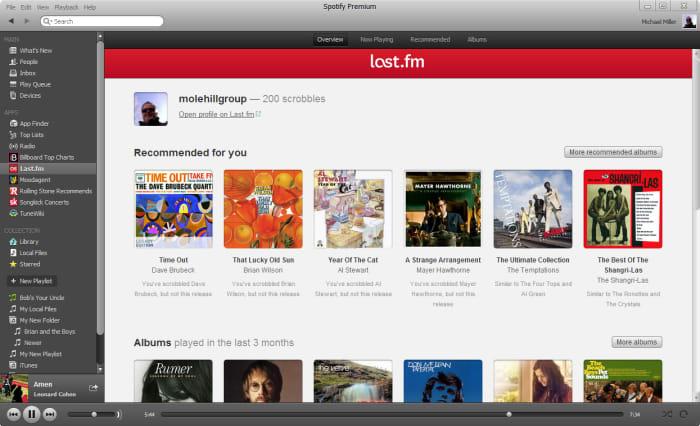Spotify Last.fm integration