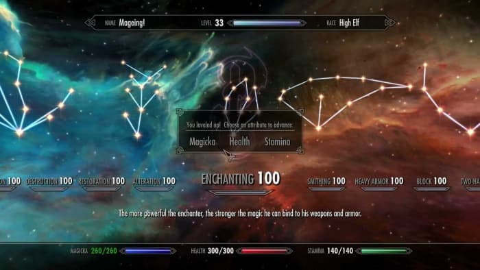 Skyrim max enchanting