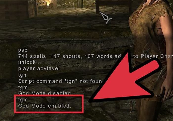 Skyrim god mode console command