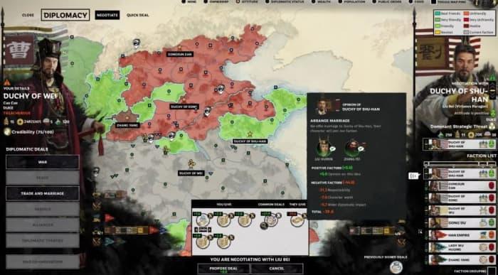 Total War: Three Kingdoms Diplomacy Cao Cao