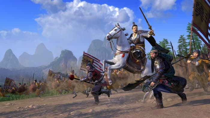 Total War: Three Kingdoms cavalry charge