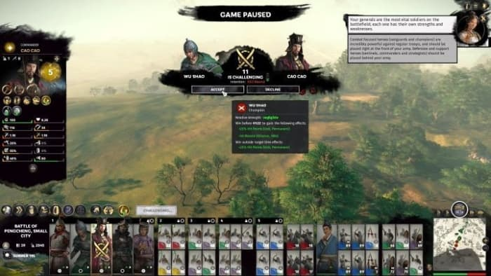 Total War: Three Kingdoms two army stack