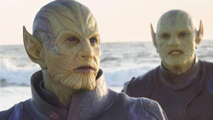 """""""Captain Marvel"""" Skrulls Talos beach"""