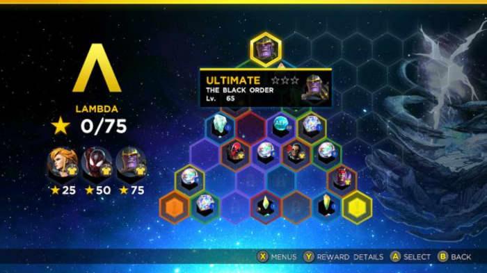 Marvel Ultimate Alliance 3 Lambda Rift Thanos challenge