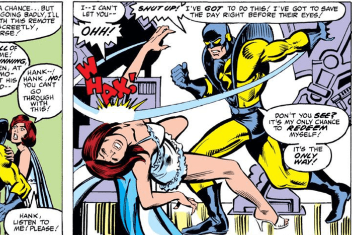 Hank Pym slap Janet comics