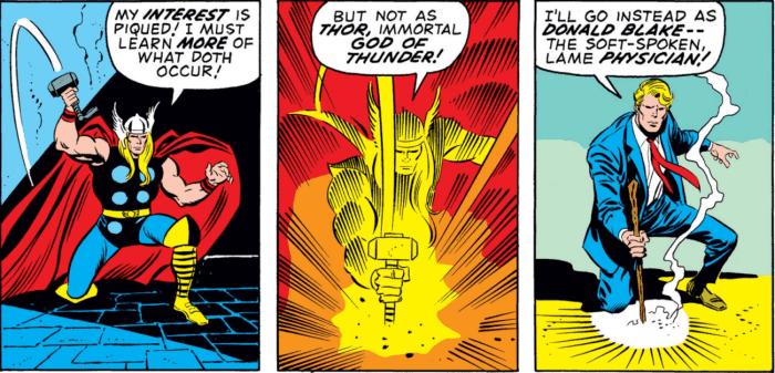 Thor Mjolnir Donald Blake comics Marvel