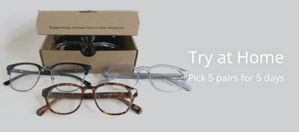 warby parker try at home