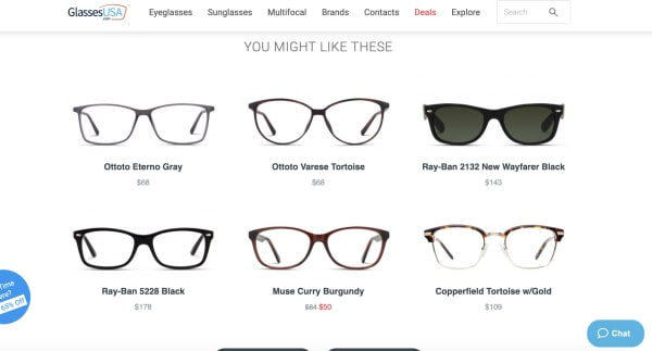 Glasses USA website