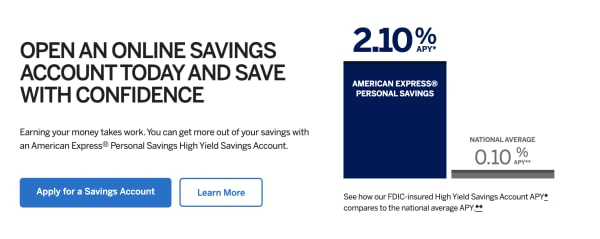 American Express Online Savings >> 5 Best Online Savings Accounts