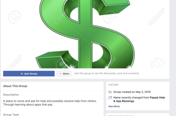 facebook groups donate
