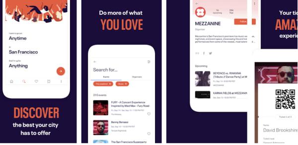 find events eventbrite app