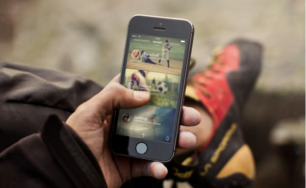 sporty local sports activity app