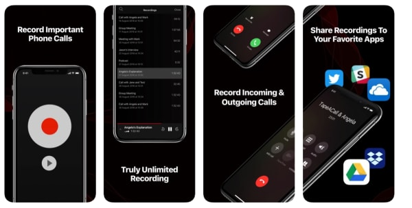 tapeacall recording app iphone
