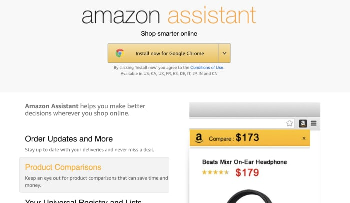 amazon assistant add extension