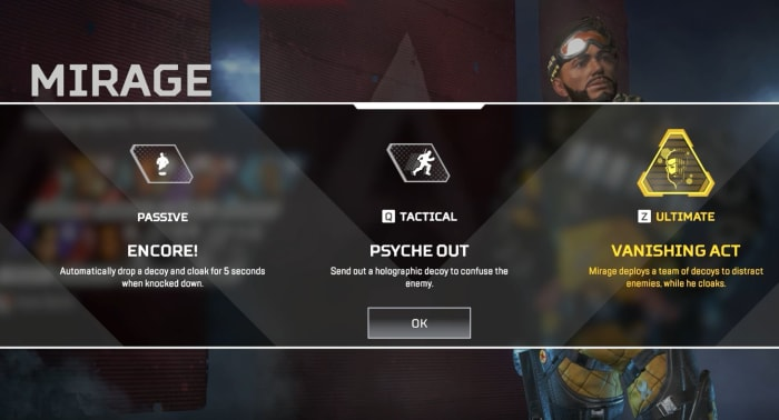Apex Legends Mirage abilities