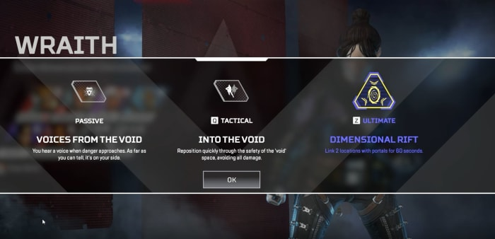 Apex Legends Wraith abilities