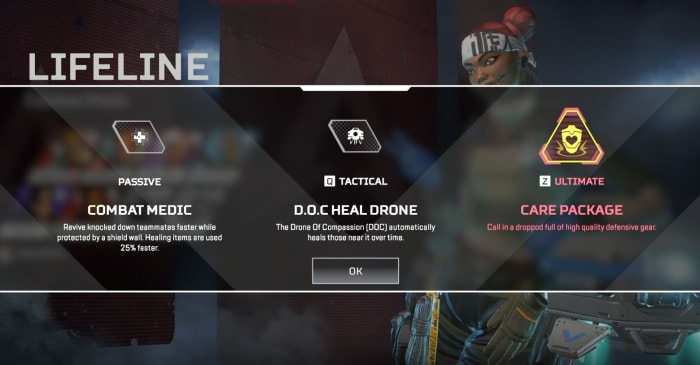 Apex Legends Lifeline abilities