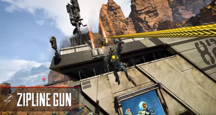 Apex Legends Pathfinder zipline gun ultimate