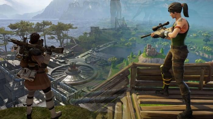 Fortnite Apex Legends graphics comparison