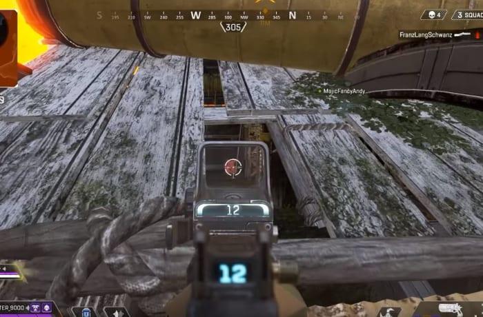 Apex Legends shoot through roof