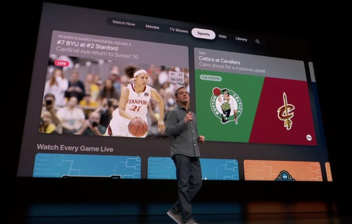 Apple TV tabs