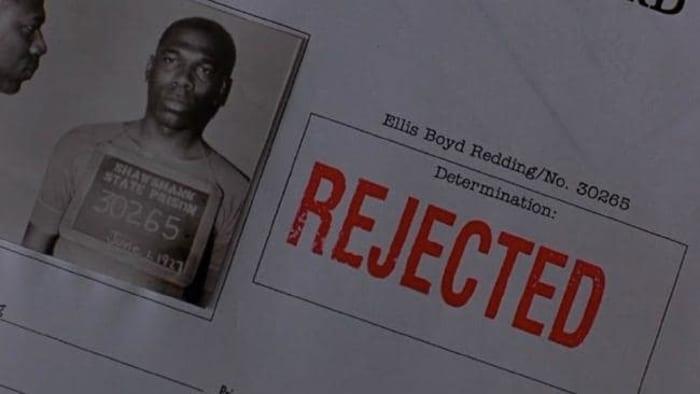 Shawshank parole card Alfonso Freeman