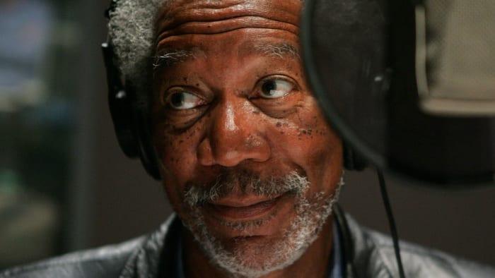 Morgan Freeman sound booth
