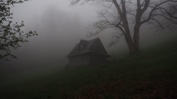 Creepy cabin in the woods