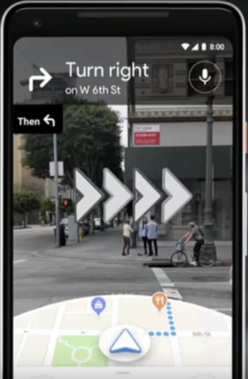 AR navigation for Google Maps