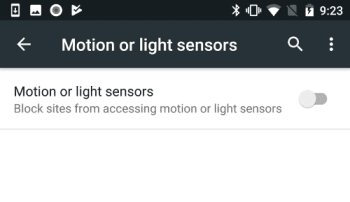 Android Chrome sensor support