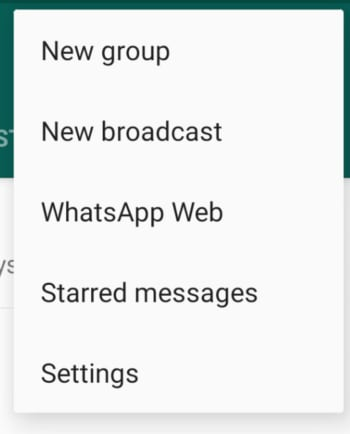 New WhatsApp Broadcast