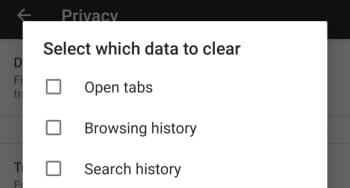 Delete data when close on Firefox