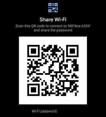 Wi Fi QR Code Share Android