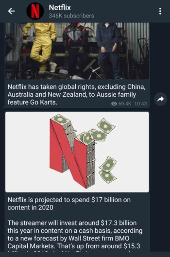 Netflix on Telegram