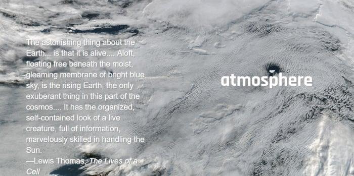 NASA satellite photos of earth's atmosphere