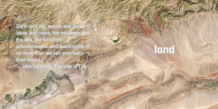 Land from space nasa photos