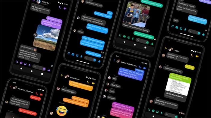 Facebook Messenger in Dark Mode